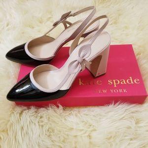Kate Spade Adelaide Pumps slingback beige black